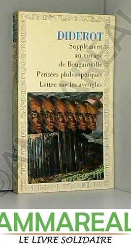 Supplement au voyage de Bougainville -Pensees philosophiques: Diderot