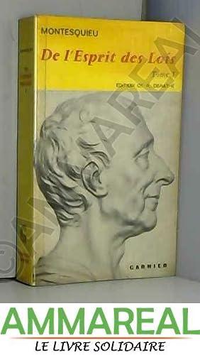 De l'esprit des lois tome 1: Montesquieu