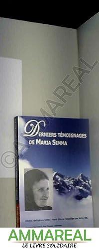 Derniers témoignages de Maria Simma: Maria Simma et