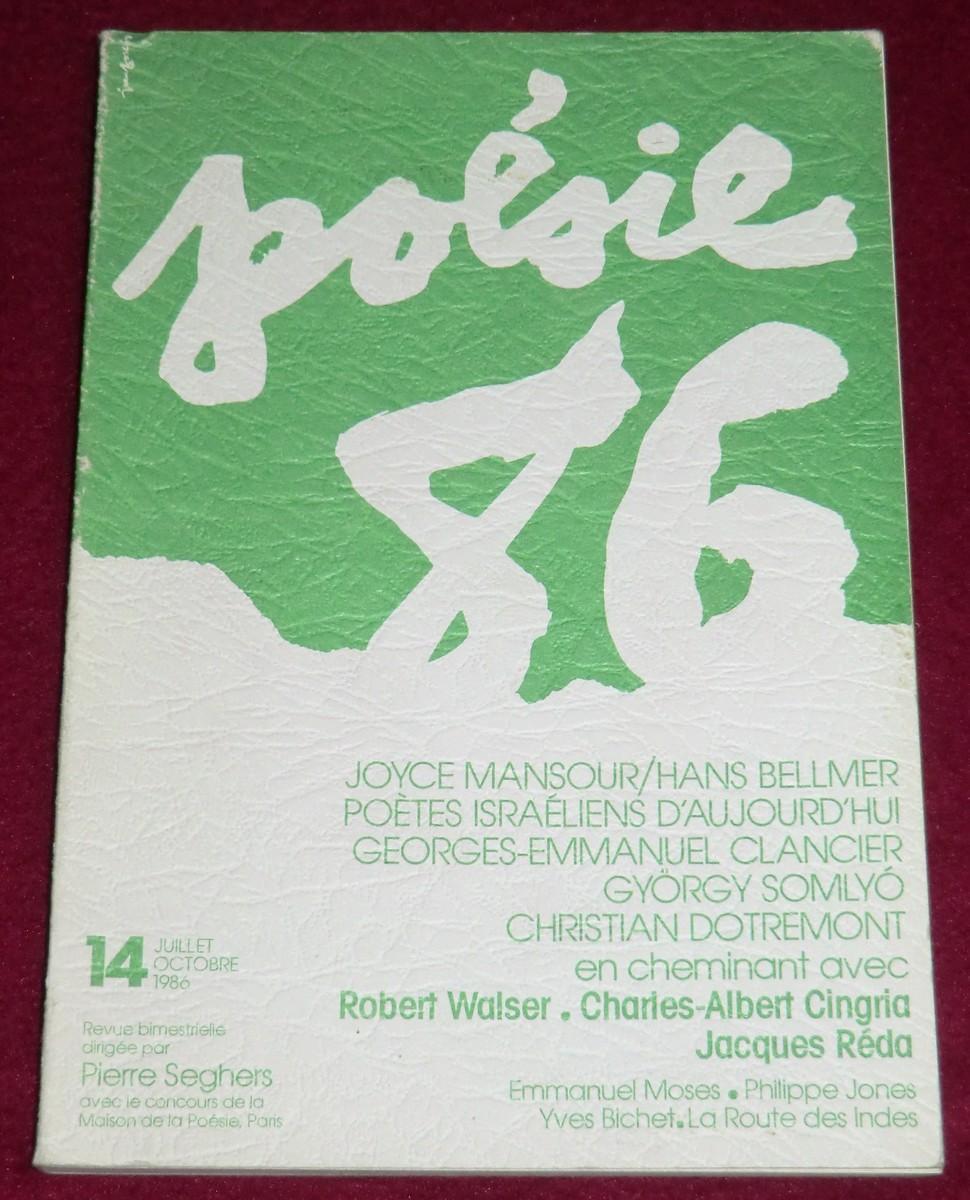 Poesie 86 N 14 Mansourbellmer Poètes