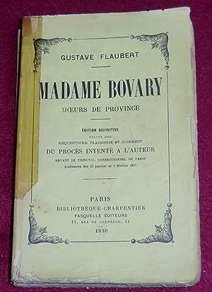 MADAME BOVARY - Moeurs de province: FLAUBERT Gustave