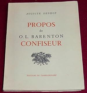 PROPOS DE O.L. BARENTON CONFISEUR: DETOEUF Auguste