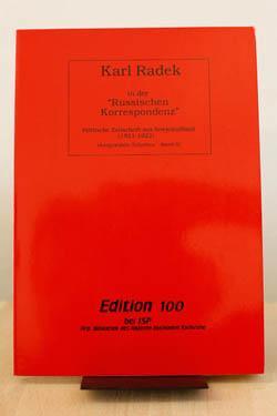 """Karl Radek in der """"Russischen Korrespondenz"""" Politische: Radek, Karl Bibliothek"""