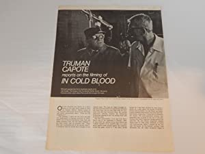 TRUMAN CAPOTE REPORTS ON THE FILMING OF IN COLD BLOOD: Truman Capote