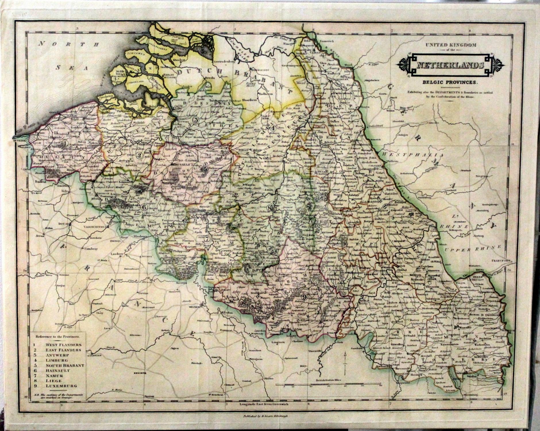United Kingdom of the Netherlands Belgic Provinces Exhibiting Also