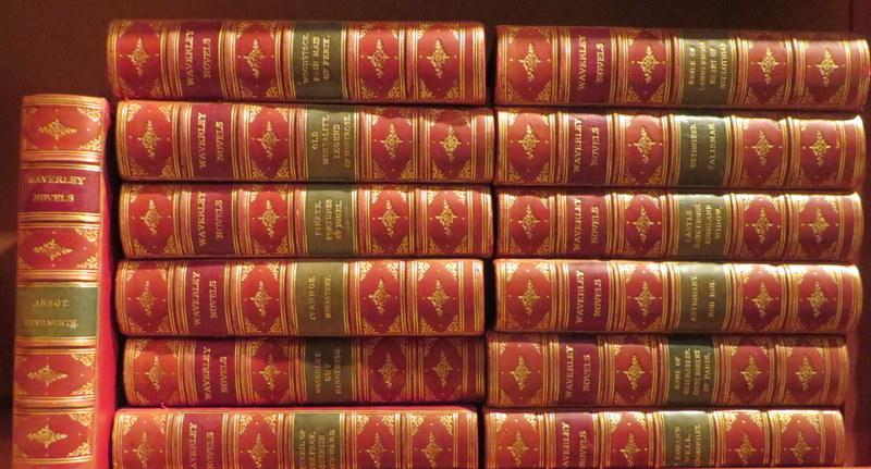 Nimmo, Edinburgh 1870 - C.1870.13 vols, containing several stories in each.  Contemporary red half calf, gilt. Dark red and green titling pieces, ...