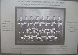 Auckland Grammar School 1st XV., 1930. Winners of Auckland Secondary Schools Competition team ...