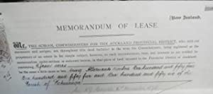 Memorandum of Lease - School Commissioners for the Auckland Provincial Council to Michael Luther.