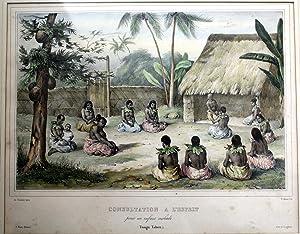 Consultation a L'Esprit pour un Enfant Malade (Tonga Tabou) - Original Lithograph: SAINSON, ...