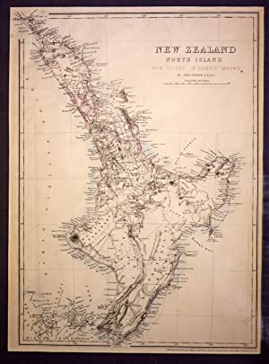 New Zealand North Island. New Ulster of Eahein O Mauwe - Map