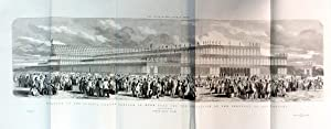 Exterior of the Crystal Palace in Hyde Park for the Exhibition of the Industry of All Nations.South...