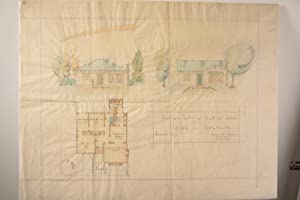 Sketch Plan and Elevation for House in Northcote: PATTERSON, Daniel B