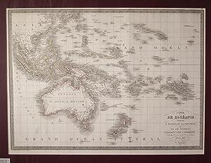 Carte De L'Oceanie Contenant L'Australie, La Polynesie et Les Iles Asiatiques Map: ...