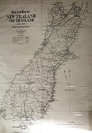 Sketch Map of New Zealand South Island: KOCH, A