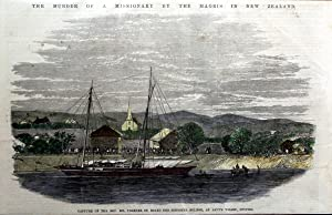 The Murder of a Missionary By the Maoris in New Zealand (Capture of the Rev. Mr Volkner on Board ...