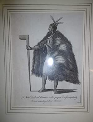 A New Zealand Warrior in His Proper Dress, Compleatly Armed, According to Their Manner Engraving: ...
