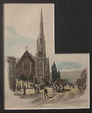 Knox Presbyterian Church Engraving: FITLER, W C