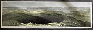 View of Auckland, From the Crater of Mount Eden, from a Drawing By Major Stack Engraving: STACK, ...
