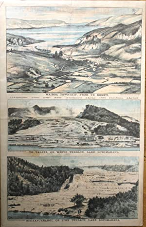 Hot Lakes New Zealand Lithograph