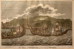The Fleet of Otaheite, Assembled at Oparee Engraving: HODGES, William