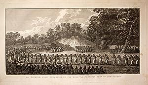 De Natsche, Eene Plechtigheid Ter Eere van S'konings Zoon of Tongatoboo Engraving