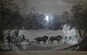 A Man of Kamtschatka, Travelling in Winter Engraving