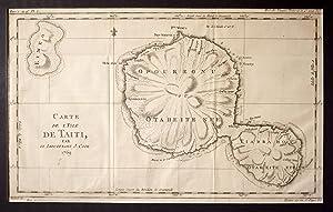 Carte De L'Isle De Taiti Par Le Lieutenant J Cook 1769 Map: BELLIN, Jacques Nicolas
