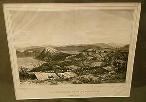 Vue Interieure Du Pa De Kahouwera (Nouvelle Zealande) Engraving: SAINSON, Louis Auguste De