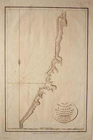 Plan of la Baie de Langle on the West side of the Isle of Tchoka Map