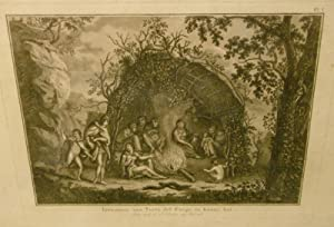 Inwooners Van Terra Del Fuergo in Hunne Hut (Residents of Terra Del Fuego in Their Hut) Engraving