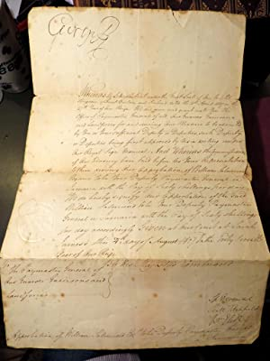 Jamaica. A King's Warrant, addressed to George R (King George III), regarding the Approbation of ...