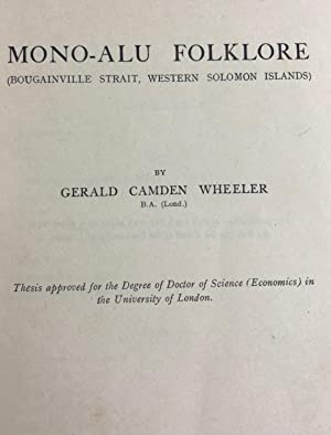 Mono-Alu Folklore (Bougainville Strait, Western Solomon Islands): WHEELER Gerald Camden