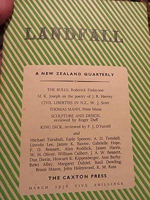 LANDFALL : a New Zealand Quarterly