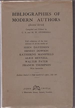 Bibliographies of Modern Authors (Second Series) John Davidson, Ernest Dowson, Katherine Mansfield,...