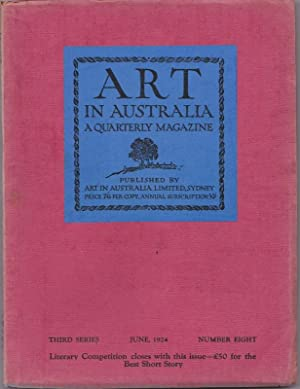 ART in Australia, Third Series, No. 8, Nov 1924: SMITH, Sydney Ure and Leon GELLERT (editors)