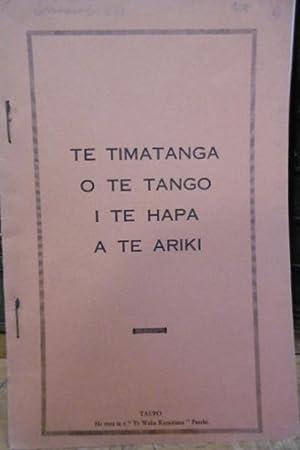 Te Timatanga o Te Tango I Te Hapa a Te Ariki: GOOLDE, James G.