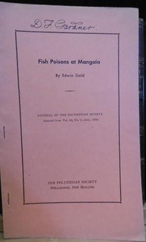 Fish Poisons at Mangaia: GOLD, Edwin