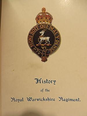 A SHORT HISTORY OF THE ROYAL WARWICKSHIRE REGT.