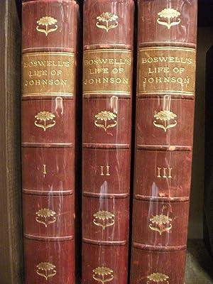 The Life of Samuel Johnson, LL.D. 3 Volumes: BOSWELL, James