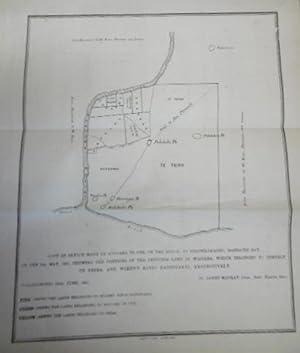 Map of Waitara, Drawn By Ropoama Te One.