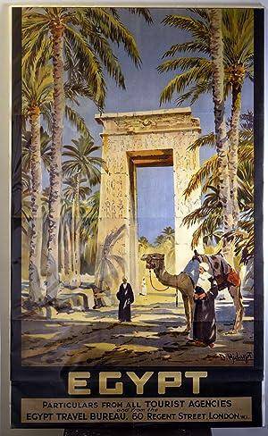Original Egypt Tourism Poster: EGYPT TRAVEL BUREAU