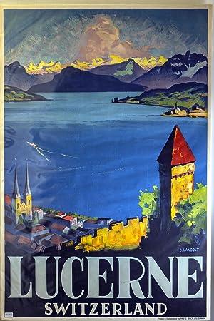 Original Lucerne Tourism Poster