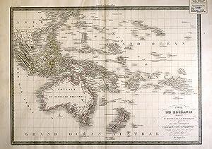 Carte De L'Oceanie Contenant L'Australie, La Polynesie et Les Iles Asiatiques - Map: ...