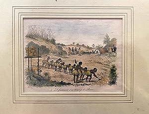 Defrichement d'Un Champ De Patates Engraving: SAINSON, Louis Auguste De