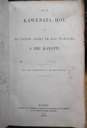 Ko Te Kawenata Hou o to Tatou: BIBLE.MAORI. 1841