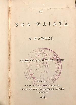 Ko Nga Waiata a Rawiri. Katahi Ka taia Ki te Reo Maori: BIBLE. MAORI. 1848. O.T. Psalms