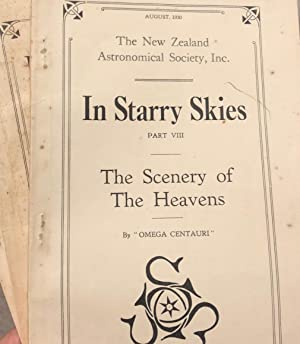 In Starry Skies. 3 Volumes of the NZ Astronomical Society: OMEGA CENTAURI