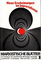 Marxistische Blätter - Für Probleme der Gesellschaft,: Redaktion Marxistische Blätter