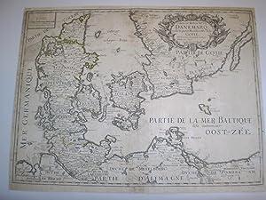 Carte du Royaume de Danemarq, et de la partie Meridionale de la Gotie.: Pierre Du Val