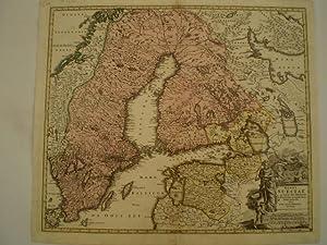 Regni Sueciae in omnes suas Subjacentes Provincias. With smaller tear: HOMANN, JOHANN BAPTIST.